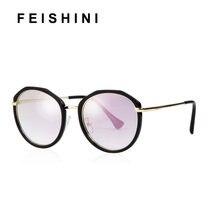 Популярные портативные Овальные Солнцезащитные очки feishini