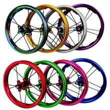 PASAK انزلاق طقم عجلات الدراجة 12 بوصة مستقيم سحب تحمل BMX الأطفال الاطفال موازن دراجة العجلات 85 مللي متر 95 مللي متر BMX