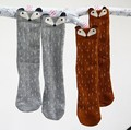 2016 Cotton Baby Socks Newborn Animal fox Baby Girls Socks for Kids Cartoon  Baby Knee High Children Socks