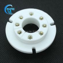 Free Shipping 10PCS ceramic B8S Silver plate 8pin chasis mount tube sockets for FU50 FU15 GU50