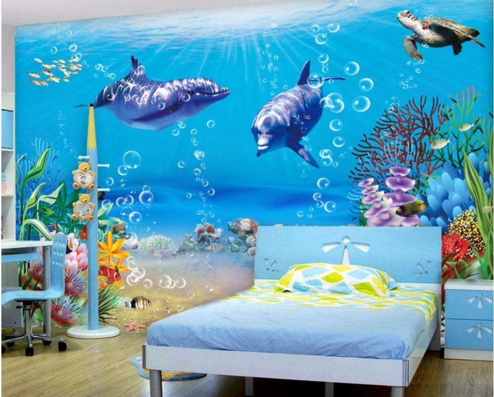 3d Wallpaper Custom Photo Mural Sea World Whale 3d Wall