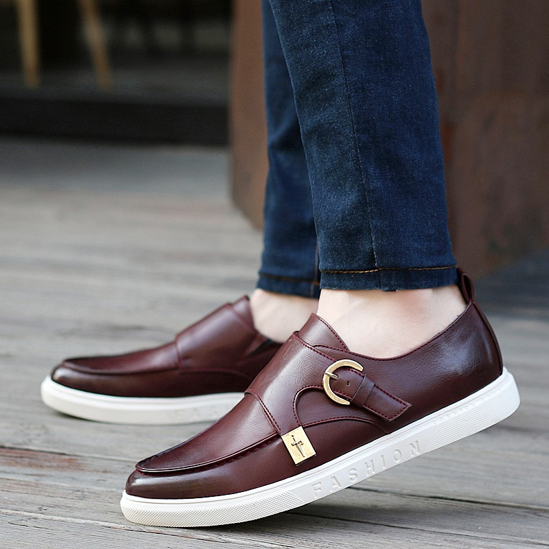 KUYUPP Size 39-43 Top Pu Leather Men Flats Moccasins Slip On Casual Men\'s Loafers Spring Fashion Shoes High Quality S264 (22)