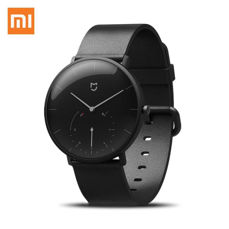 Xiaomi Mijia Mi Quartz Watch Life Waterproof Smart Watch with Double Dials Alarm Sport Pedometer Sensor World Time Mi Home APP