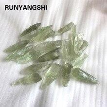 Натуральный Зеленый хрустальный камень кварцевая галька необработанные камни для камня, минерал, аквариумный бонсай, украшение ремесла