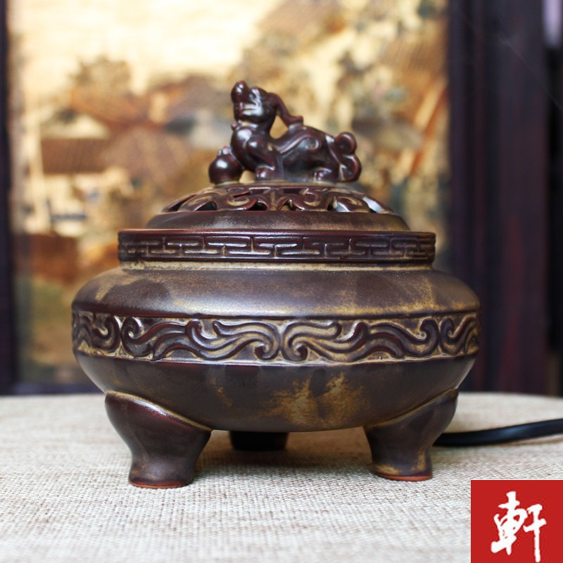 Classical brave electronic thermostat timing fragrance aroma of the incense burner furnaces burn wood powder ceramic
