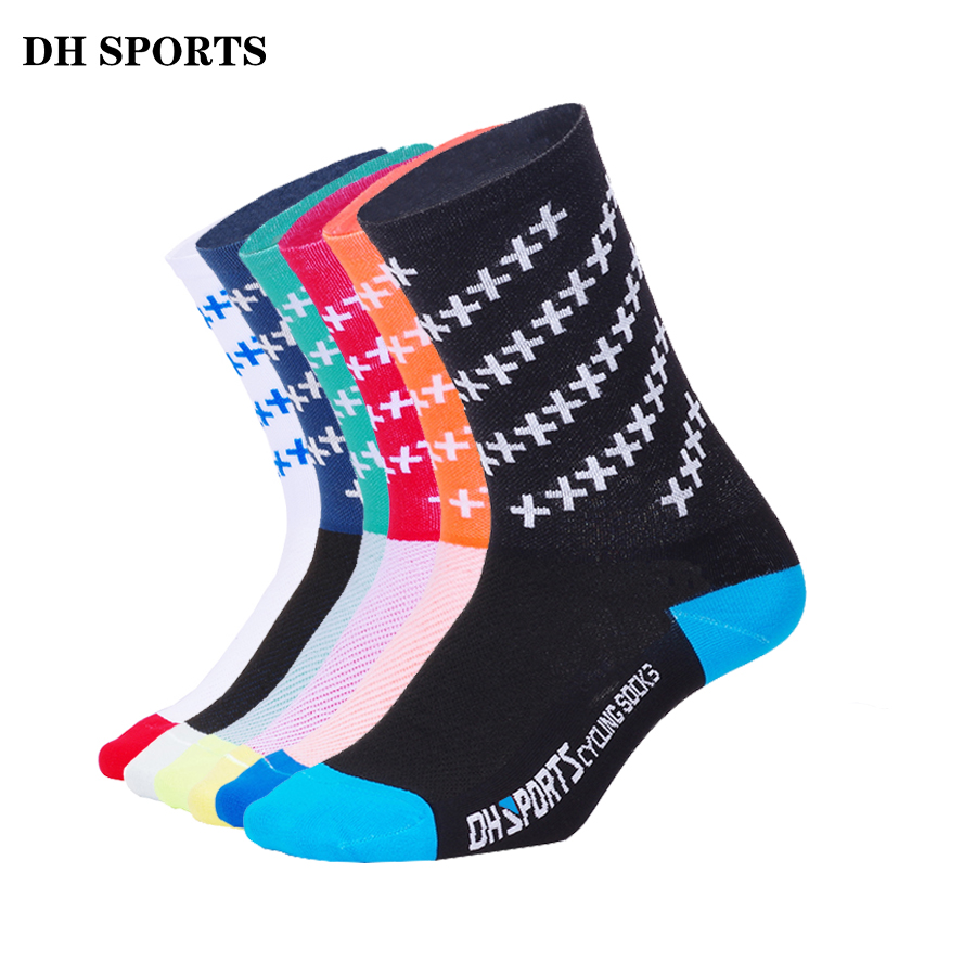 DH SPORTS New Quality Professional Cycling Socks Men Women Outdoor Road Bicycle Socks Brand Running Compression Sport Socks