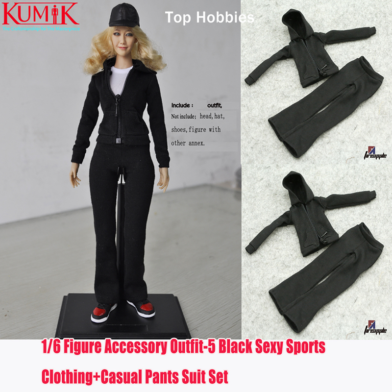 1/6 scale doll clothes for 12 Action figure doll,Leisure sports suit no body for Female figure clothes.not include the head 1 6 scale figure accessories doll body for 12 action figure doll super flexible female body in pink or tan skin