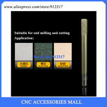 LOXA CNC stone carving bits Marble engraving tool flat end mills straight knife smelting diamond machine