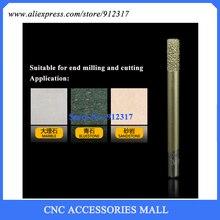 LOXA CNC stone carving bits Marble engraving tool flat end mills straight knife smelting diamond engraving machine tool цена и фото