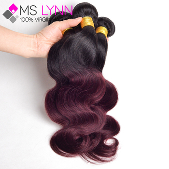 Brazilian Body Wave Virgin Human Hair Extensions Ombre Colors