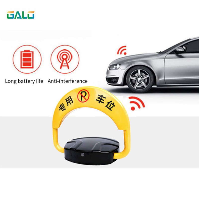 With Automatic Sensor With 2 Remote Folding Safety Parking Lock Barrier Guard Column With Lock And Bolt (excluding Battery)