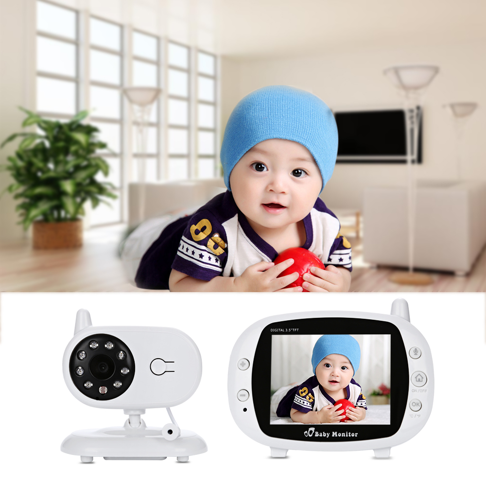 Wireless TFT LCD Video Baby Monitor 3.5 inch Security Camera 2 Way Talk NightVision IR LED Temperature Monitoring with Lullaby wireless lcd audio video baby monitor security camera baby monitor with camera 2 way talk night vision ir temperature monitoring