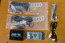 120 km/h Doble Antena Digital Móvil Del Coche DVB T2 TV Box External USB DVB-T2 Receptor Del Coche TV de Rusia y de Europa y el sudeste de Asia