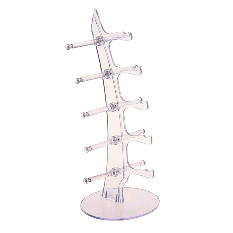 Fashion Acrylic 5 Pairs font b Sunglasses b font Glasses Show Rack Counter Display Stand Holder