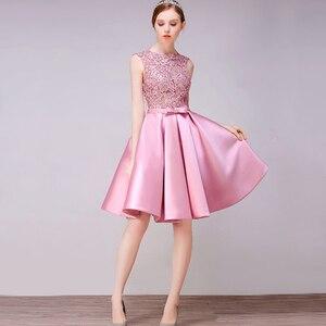 Image 3 - DongCMY Short New Arrival Cocktail Dresses Party Plus Size Women Lace Gown