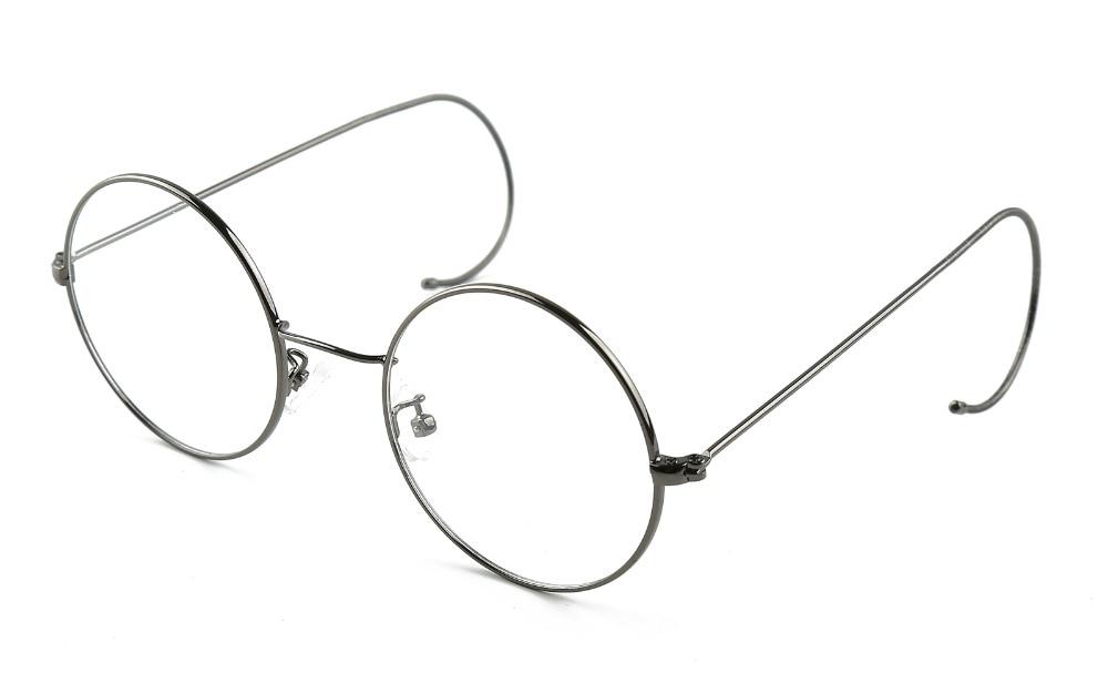 Agstum 49mm Antique Vintage Round Glasses Wire Rim