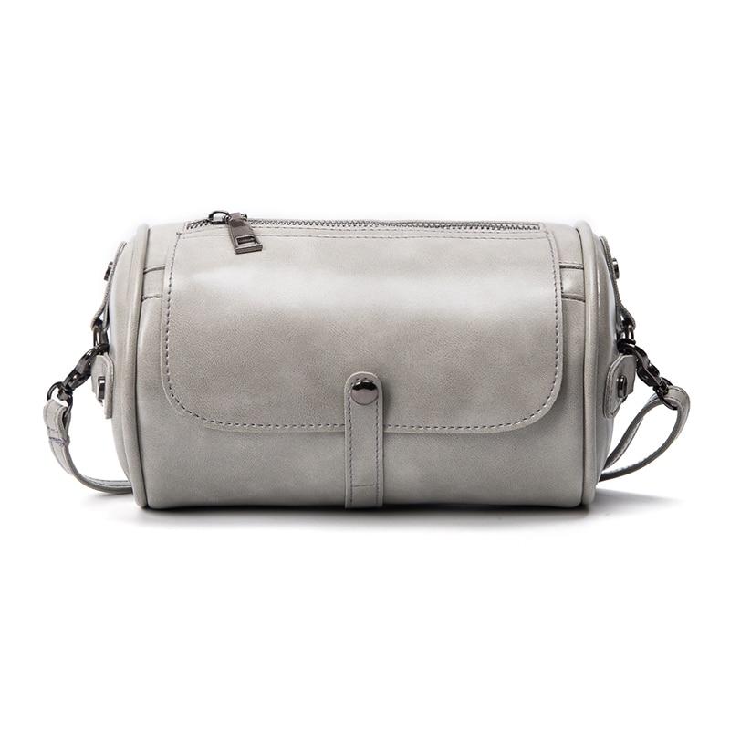 2017 Retro Women Fashion Mini Small Shoulder Bags Messenger Crossbody Bag Female PU Leather Vintage Cylinder Pack Ladies Casual mini women crossbody bags small women