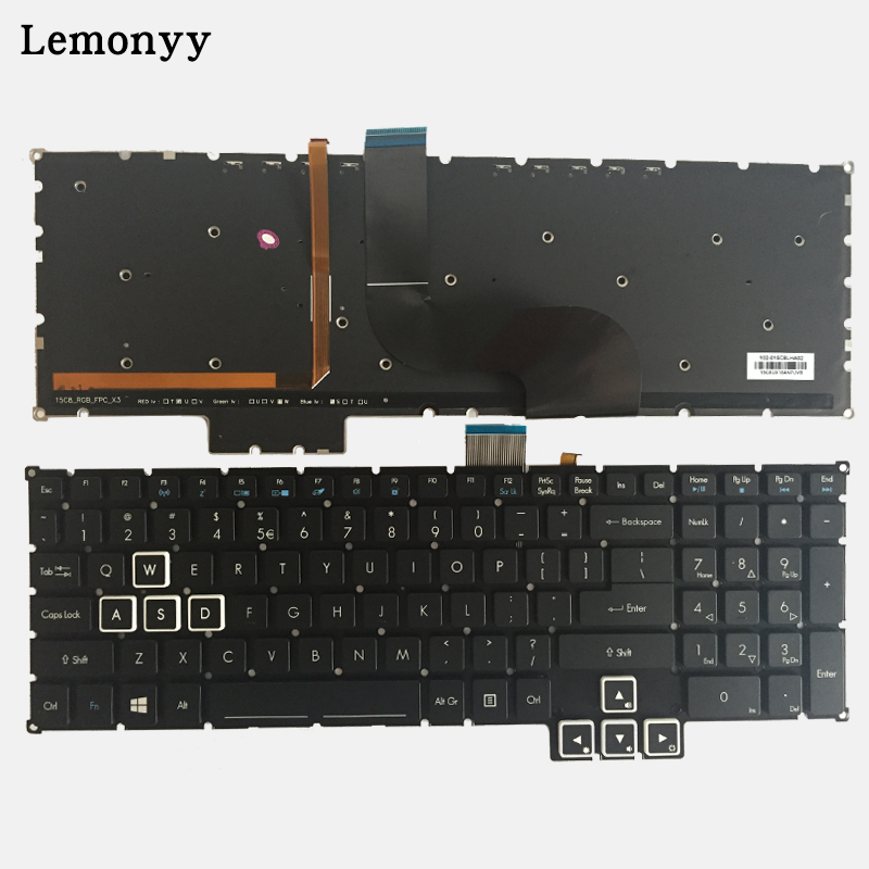 NEW US laptop Keyboard for Acer Predator 17 15 G9-791 G9-791G G9-591 G9-591G G9-591R US keyboard new predator cooling fanor for acer predator 15 17 17x g5 g9 592 g9 593 g9 g9 791 79xv g9 792 g9 793 cd rom cooling fan