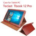 Новое Прибытие Роскошные Teclast Tbook 12 pro case PU Leather Case with держатель для Teclast Tbook 12 pro 12.2 дюймов Tablet pc на складе