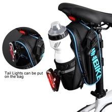 цена на INBIKE Bicycle Saddle Bag Waterproof MTB Bike Rear Bags Seatpost Cycling Tail Bag SX510