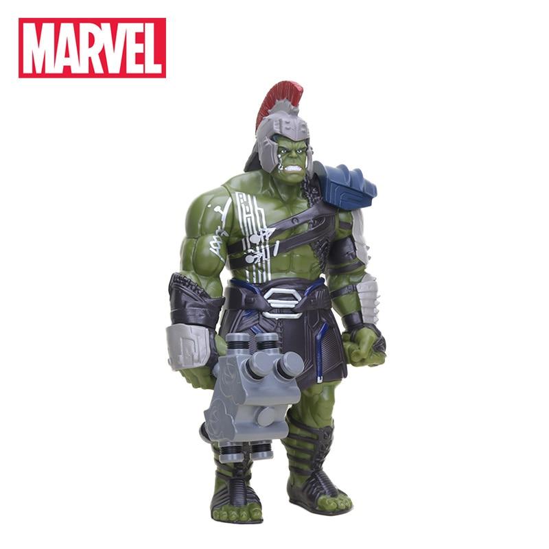 Electronic 42cm The Avenger Figure Movable Thor 3 Ragnarok PVC Action Figures War Hammer Battle Axe Gladiator Hulk Model Toys thor the mighty avenger