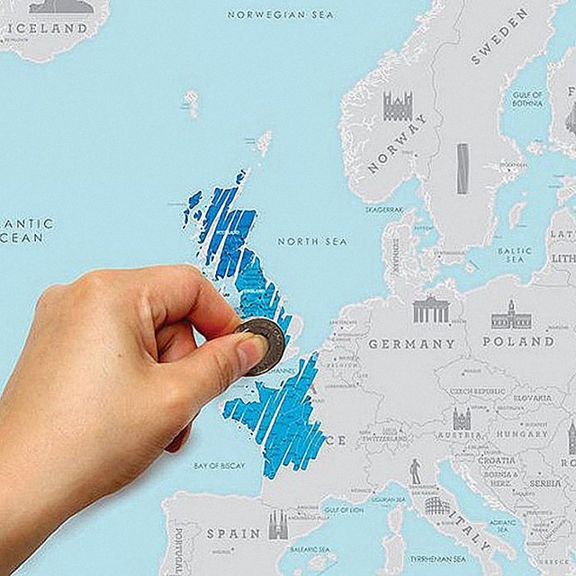 Direct Selling Vintage Creative Europe Travel Map DIY Art Paper - World map to mark travels