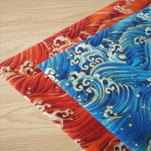 Bronzing Wave Printing Craft Cloth Cotton Linen Fabric Canvas Textile Handmade DIY Sewing Background Pillow
