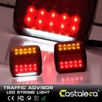 Castaleca 12V 20 Leds Car Truck Warning Rear Tail Light Warning Lights Rear Lamps Tail Lights