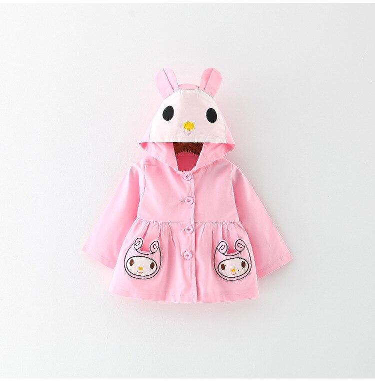 2018 Новый Bbay девушки милый мультфильм с капюшоном кролика верхняя одежда пальто Тренч ...