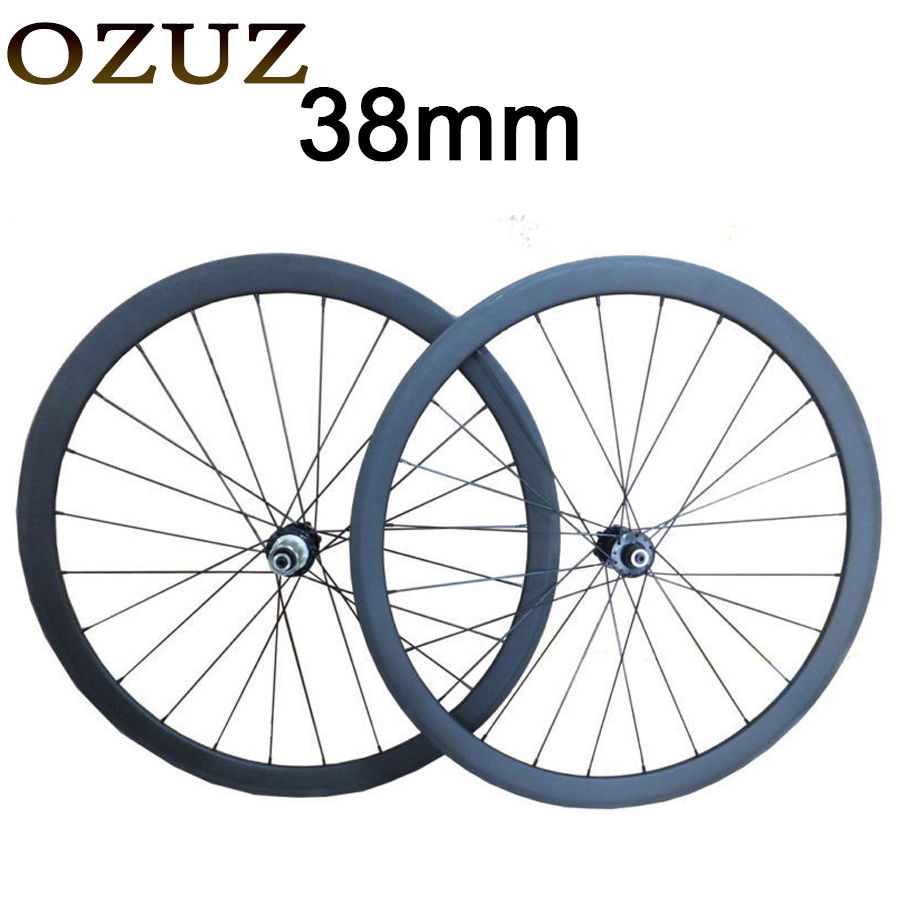 OZUZ  Disc Wheels Cyclocross 38mm Clincher Tubular Carbon Road Bike Bicycle Disc Brake Hubs Carbon Wheels Bicycle Wheel Wheelset 50mm carbon disc brake bicycle wheel set 700c 25mm carbon 38mm clincher wheelset for secure riding made in amoy trading company