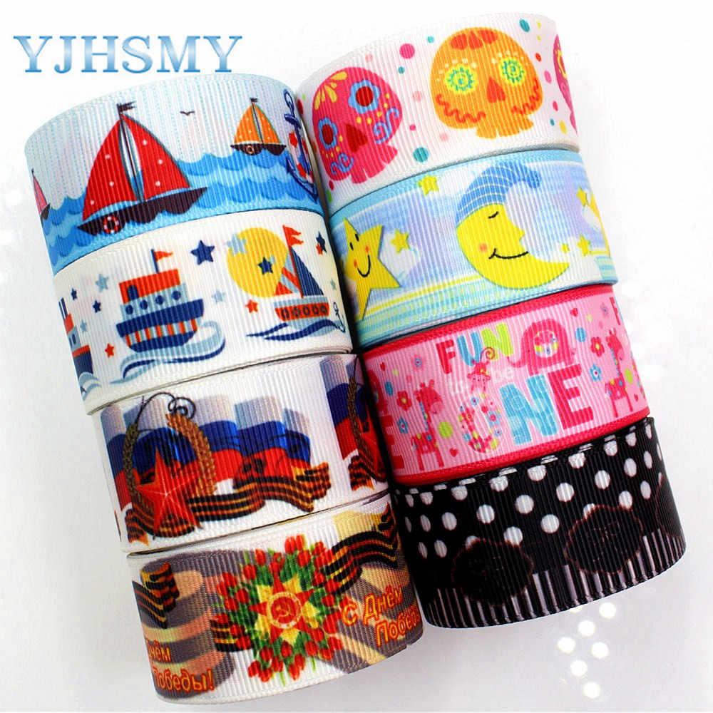 YJHSMY F-17603-350, 25mm 10 jardów Cartoon drukowane tkania wstążki, DIY handmade akcesoria do włosów materiał na prezent ślubny