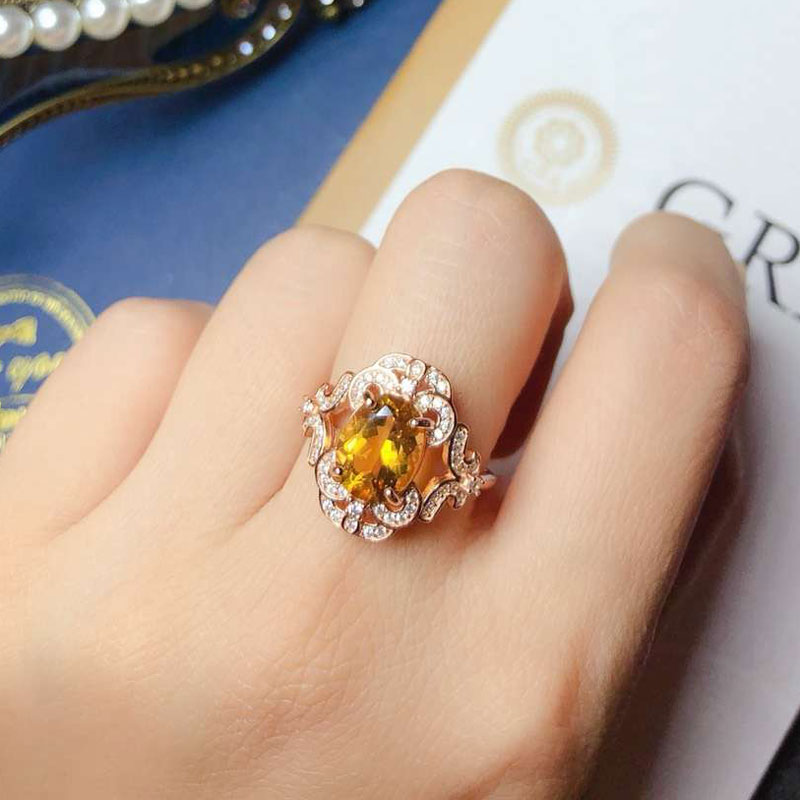 CoLife Jewelry Vintage 925 Silver Citrine Ring 8mm*10mm Real Citrine Silver Ring Sterling Silver Citrine Jewelry Gift for WomanCoLife Jewelry Vintage 925 Silver Citrine Ring 8mm*10mm Real Citrine Silver Ring Sterling Silver Citrine Jewelry Gift for Woman