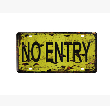 Винтаж Стиль НЭ запись предупреждения Lincense пластина 15*30 см Олово металлический знак настенные stick Паб Декор стены плакат металлическая доск...