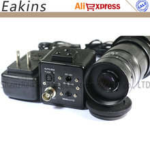 Discount! 1/3 inch 800TVL Industrial CCD Camera BNC Output Digital Microscope Camera Auto IRIS + 180X Zoom C-mount Lens