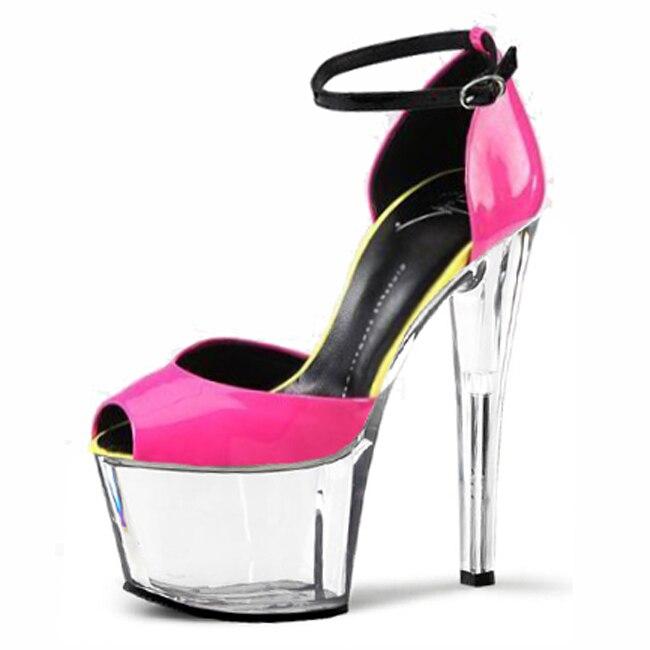 Alta Partido Odio Grandes Cuero Yardas Altos 17 Tacones Día De Artificial 02 Súper Transparente Cm Zapatos Bolsa Mujeres 01 Colorido Con ZqXwa8Sxxt