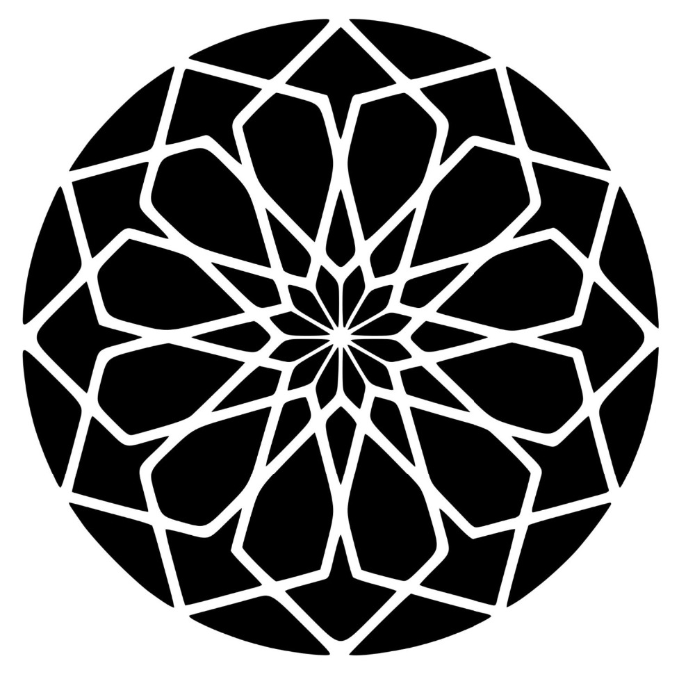 Stickers design square rose sacred geometry die cut vinyl wall decal wall art decor for living room home decor poster decoration in wall stickers from home