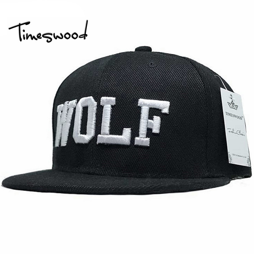 3 Colors 2016 New Hot Embroidery Wolf Cap Active Flat Along Exo Snapback Hat Baseball Hip-hop Peaked Sun Caps Bone For Men Women цены онлайн