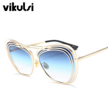 d905e3115cb 2018 Italy Luxury Brand Oversized Aviator Sunglasses Women Men Brand  Designer Retro Frame Sun Glasses For Female oculos UV400