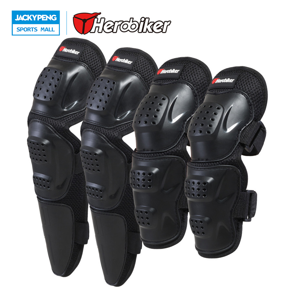 HEROBIKER Motorcycle Riding Elbow & Knee Pads Outdoor Sport Skiing Tactical Protective Gear Set Skateboard Brace Protector Guard knee patella sport support guard pad protector brace strap stabilizer protection white