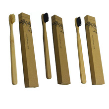 New Arrived Bamboo Handle Toothbrush Nylon/Sharpen Wire Bristles Toothbrushes for Home Hotel For Adults