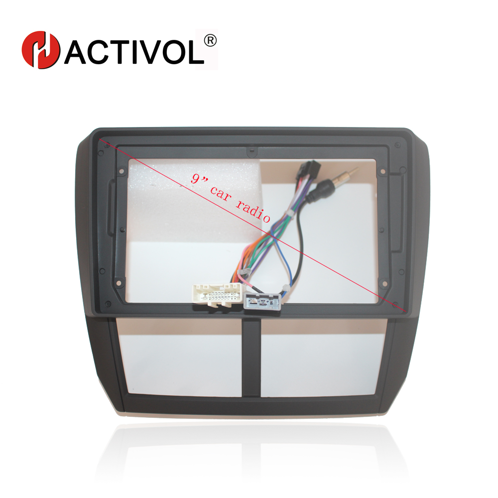 HACTIVOL 2Din Car Radio face plate Frame for Subaru Forester Impreza 2008 2012 Car DVD GPS