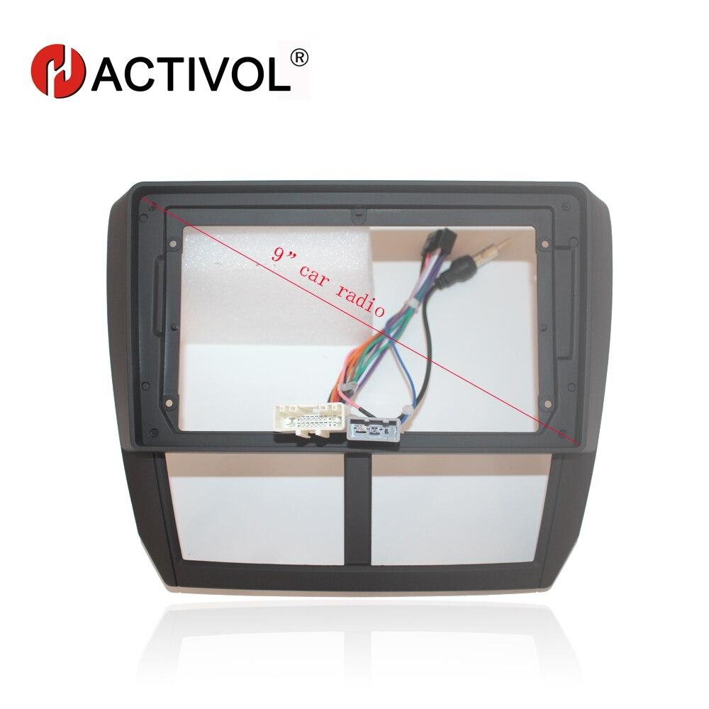 Cadre de plaque de visage d'autoradio HACTIVOL 2Din pour Subaru Forester Impreza 2008-2012 voiture DVD GPS Navi panneau kit de montage de tableau de bord produit de voiture