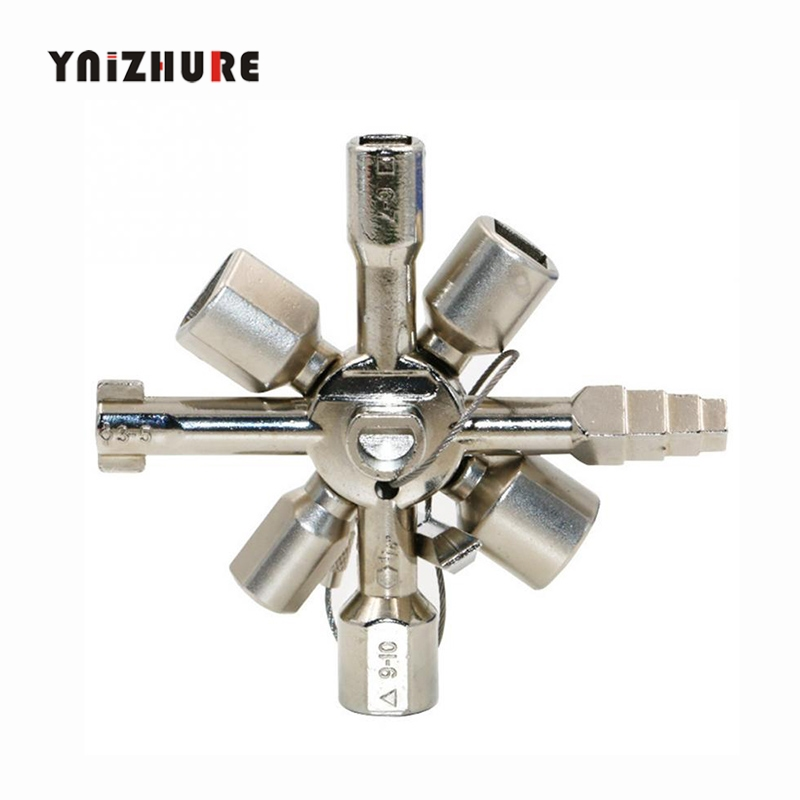 10 In 1 Multifunction Cross Switch Key Wrench Alloy Universal Square Triangle for Elevator Electrical Cupboard Box Train Cabinet10 In 1 Multifunction Cross Switch Key Wrench Alloy Universal Square Triangle for Elevator Electrical Cupboard Box Train Cabinet