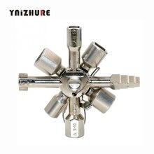10 в 1 Многофункциональный перекрестный переключатель ключ сплав Универсальный квадратный треугольник для лифта электрическая картонная коробка поезд шкаф