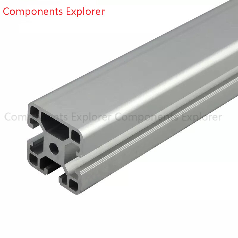 Arbitrary Cutting 1000mm 4040 One Edge Aluminum Extrusion Profile,Silvery Color.