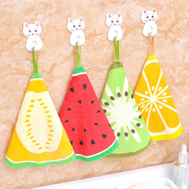 2018 New Cotton Round Hand Towel for Baby Kids Dish towel Kitchen Towel 20cm Hand Towel For Kitchen Bar