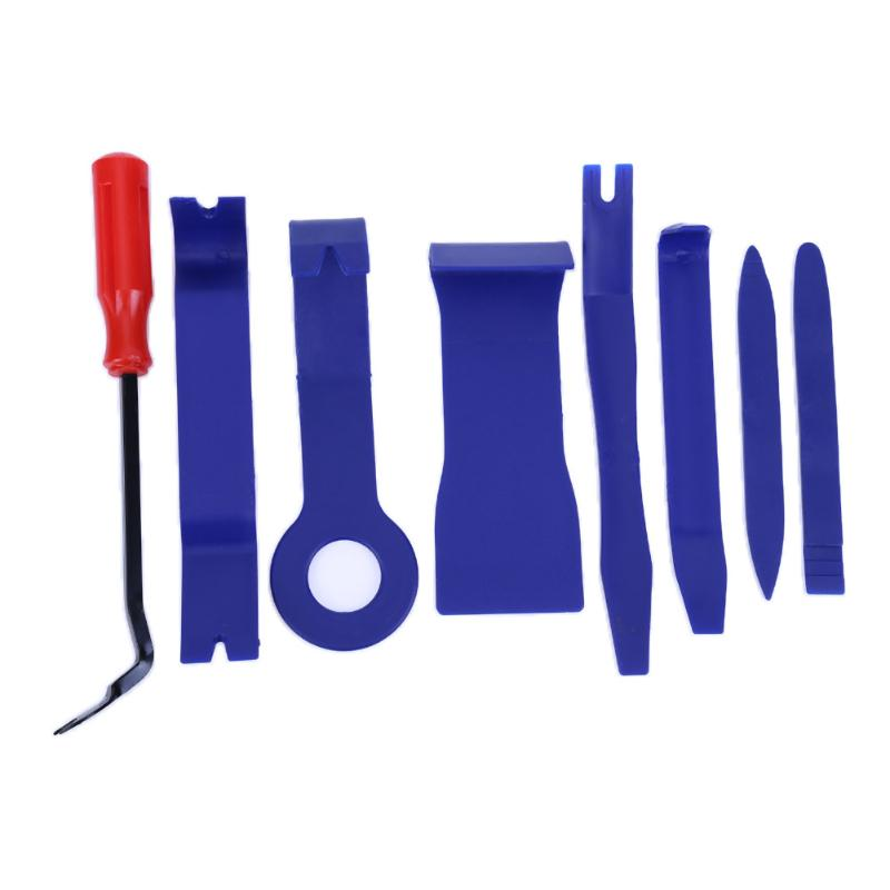 6-8PCS/set Car Stereo Repair DVD Navigation Removal Tool with Red Screwdriver Car Sound Dismantling Device Set Auto Repair Tools