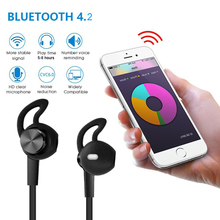 NVAHVA Sport Metal Bluetooth Headset Wireless Earphones Magnetic Bluetooth Earpods Earbuds Handsfree For Apple Android PC TV Pod