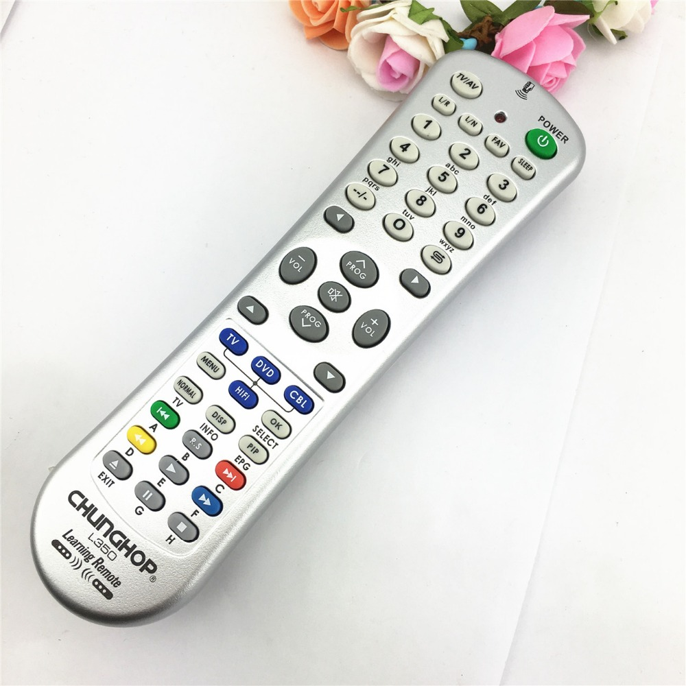 Universal Learning Remote Control Combinational 1PCS Chunghop L350 4in1 For TV/SAT/DVD/CBL/DVB-T/AUX 3D SMART TV copy
