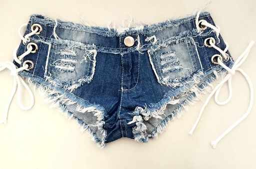 321c0eaec01d ... 2018 Summer Womens Sexy jeans denim shorts Fashion Brand Vintage Tassel  Casual Club lace-up ...
